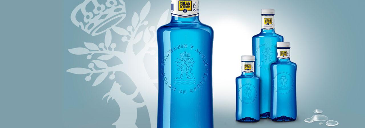 Solán de Cabras botella cristal